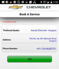 Schedule your Chevrolet car service.